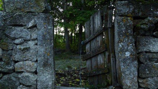 San Martin del Pimpollar, Spain: antigua puerta de corral en ruinas