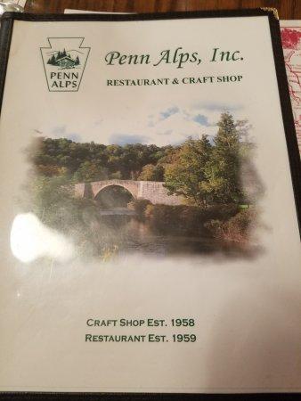 Grantsville, Мэриленд: Penn Alps Menu