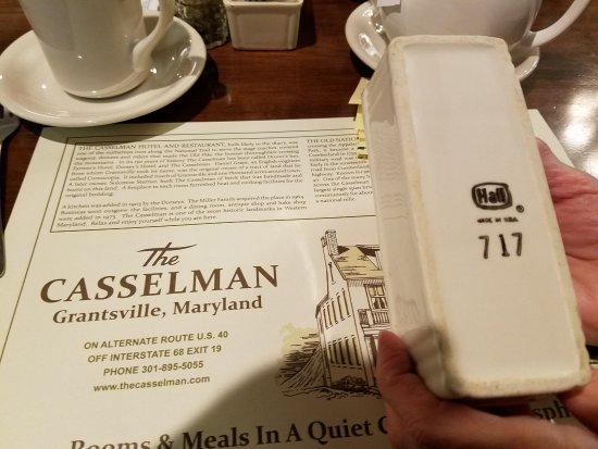 Grantsville, MD: Casselmann Uses Hall China
