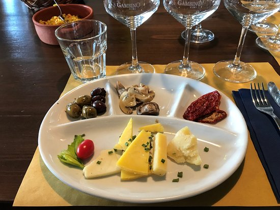 Sicily Life Tours Plate of cheese olives marinated mushrooms and salami at Gambino & Plate of cheese olives marinated mushrooms and salami at Gambino ...