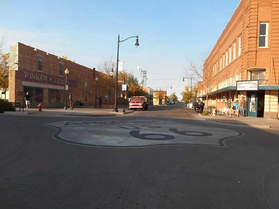 I'm literally standing on a corner in Winslow AZ!