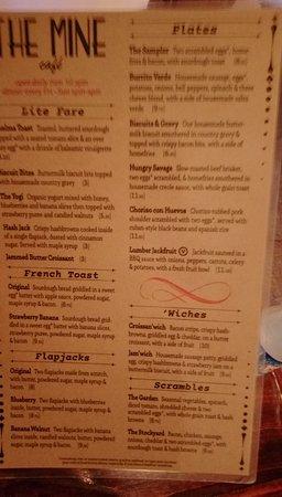One page of menu