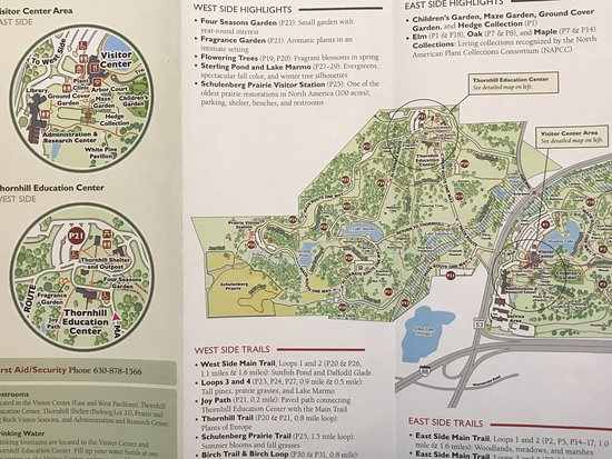Map of the West side of the Morton Arboretum