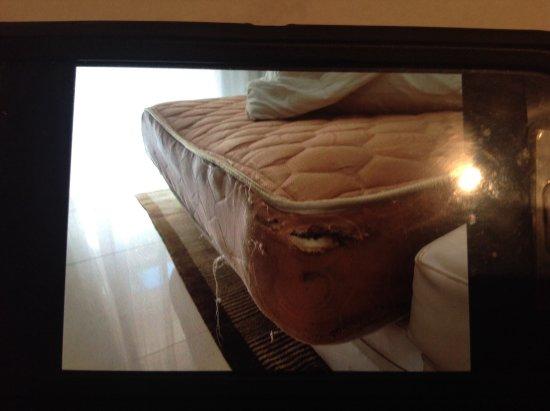 Royalton Punta Cana Resort & Casino: Mattress we were sleeping on in the living room.