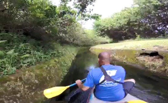 Hawi, HI: Flumin' Kohala, heading down a ditch (GoPro snap)