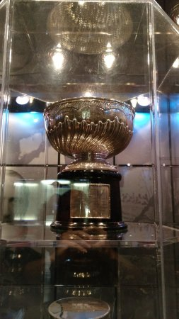 Hockey Hall of Fame: The original Stanley Cup in the bank vault area