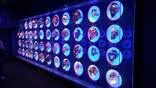 Hockey Hall of Fame: The goalie masks special display