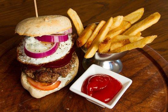 Kaiapoi, Nueva Zelanda: Ultimate kiwi lamb Burger