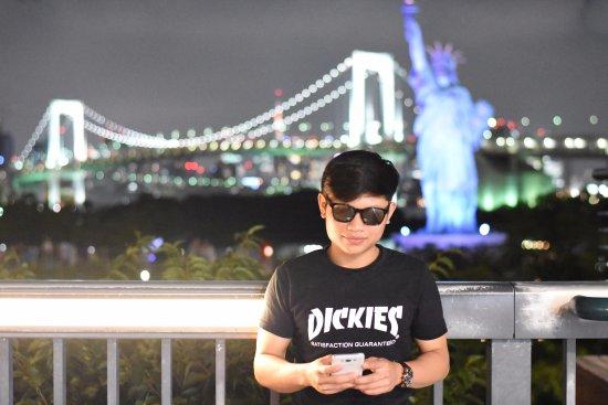 Odaiba: cahaya malam yang indah