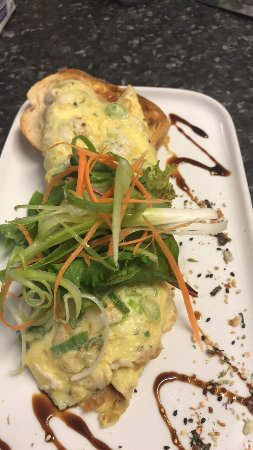 Dongara, Australia: Asian inspired crab omelette