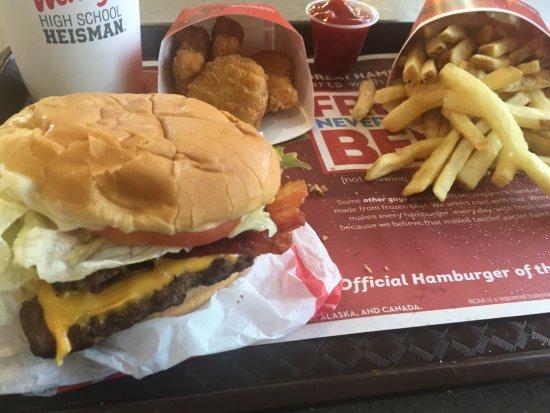 4 Jr Bacon Cheeseburger Combo Picture Of Wendy S New Albany Tripadvisor