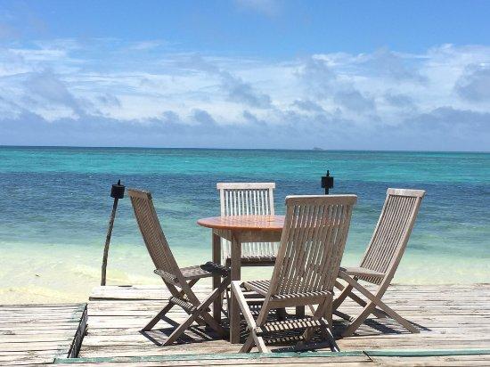 Fafa Island, Tonga: view from restaurant