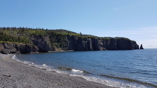 Port Rexton, Canada: Beach towards the end of the trail