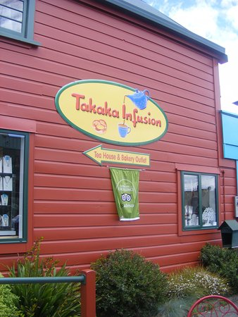 Takaka Infusion: Sign on the side