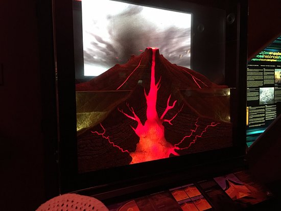 Sao Vicente Caves & Volcanism Centre: One of the animations at the volcanic centre next to the caves