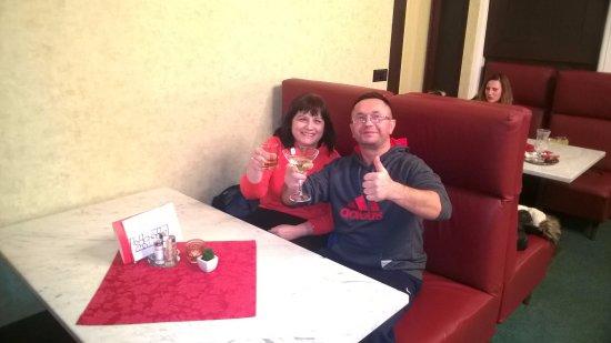 Rychnov nad Kneznou, Tjekkiet: Drink w hoteloej resteuracji w Nachod - szalu nie robi no ale najlepsza w miasteczku