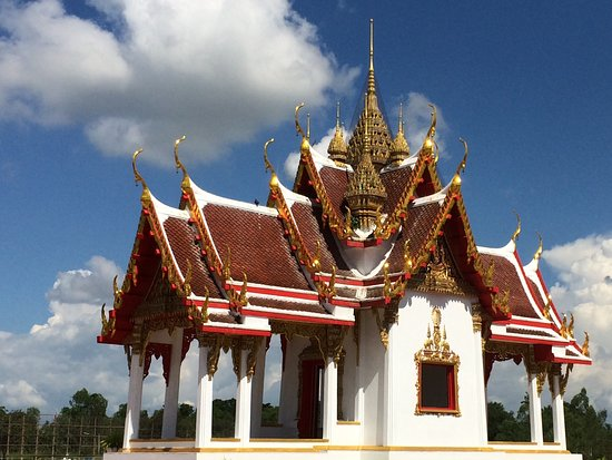 Phichit, Thailand: Beautiful red and golden roof..