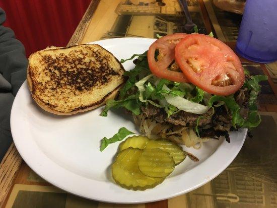 El Reno, OK: A double onion burger