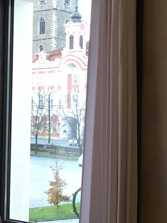 Caslav, Tjekkiet: Výhled z restaurace náměstí