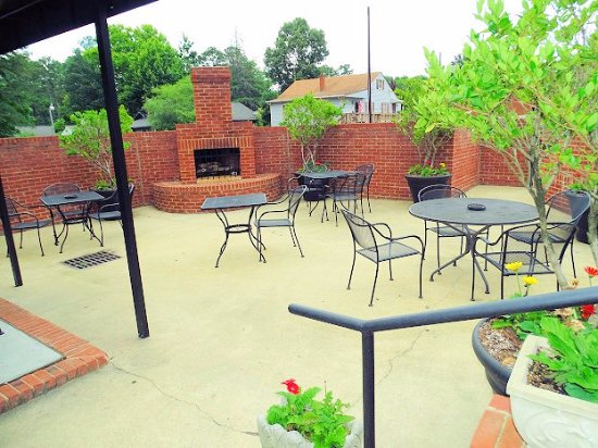 Outdoor Seating Picture Of The Flame Steakhouse Sanford Tripadvisor