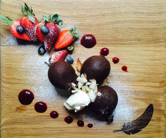 Scarborough, South Africa: Dark & Decadent Chocolate Marquise with Fresh Berries and Cream