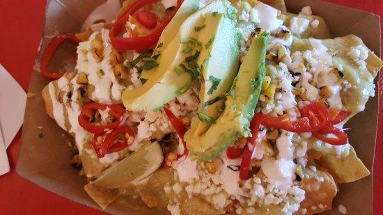 Vienna, VA: Aqua man nachos. Use a fork.