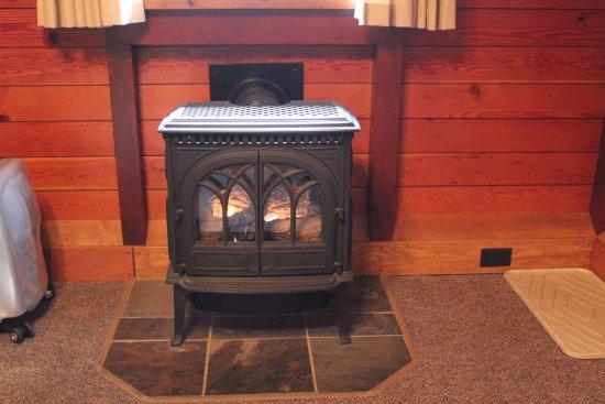 Paradise Lodge & Bungalows : Gas fire stove