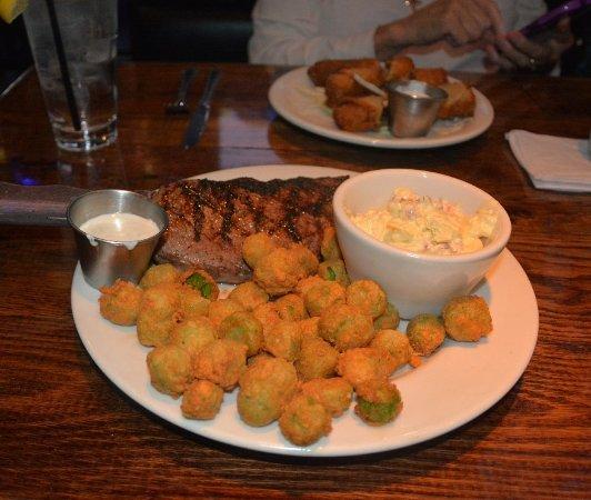 Cornelius, NC: Steak.,Potato Salad and Okra