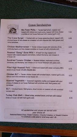 Modesto, CA: Sandwich menu