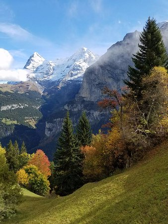 This view is just outside the Eiger Guesthouse