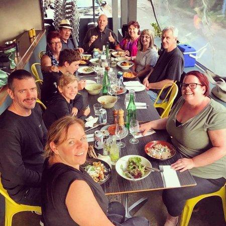 Brunswick Heads, Australia: Swordfish Carpaccio ~ Regular Customer enjoying dinner