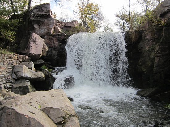 Pipestone, MN: waterfall on the trail