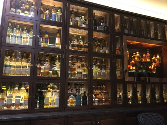 Rothes, UK: Just a small section of the whisky display