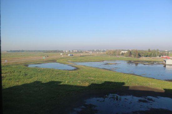 Lloydminster, Canada: Looking out over the wetlands just to the west of the hotel
