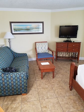 The Cove on Ormond Beach: Pull out bed/couch in living area