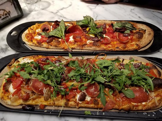 Germantown, MD: One pizza kept simple and one loaded up with a little bit of almost everything!