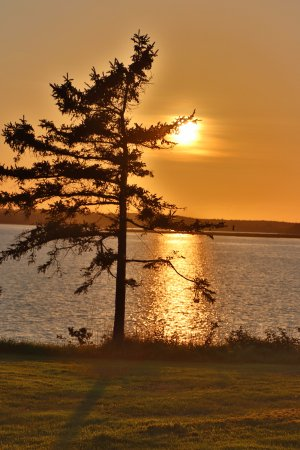 Pictou, Canada: The sunset was on its way!
