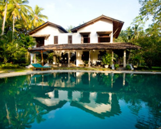 Habaraduwa, Sri Lanka: Huset set fra poolen, mod terrassen