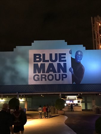Walkway leading up to the box office and theatre entrance picture of blue man group orlando - Blue man group box office ...