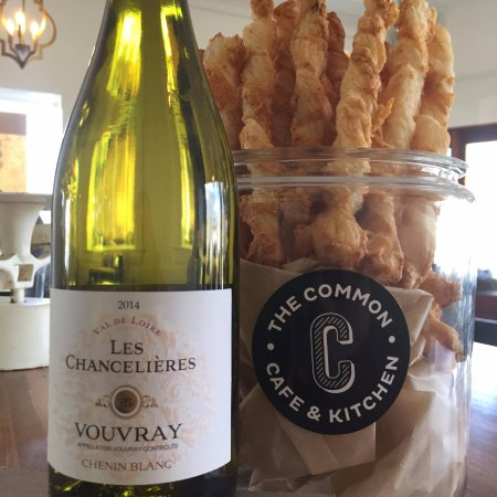 Natick, MA: cheese straws and vouvray