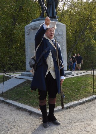 Concord, MA: This man provided a small crowd a lot of great information about musket firing and warfare.