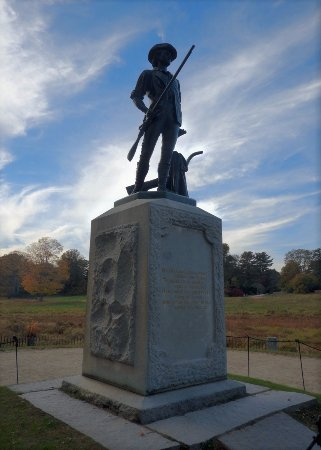 Concord, MA: The infamous statue at the Old North Bridge.