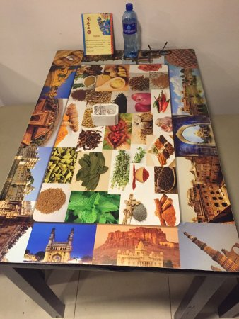 India Gourmet: One of table mats. Each one is different.