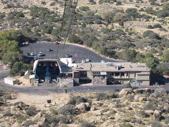 Sandia Peak Tramway: View of base as we were descending
