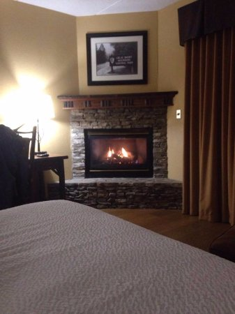 Old Creek Lodge: Gas fireplace