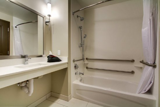Peoria, IL: Handicap Accessible Guest Bathroom with luxurious amenities