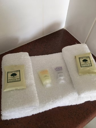 Surf Parade Resort: Amenities is given once only. Must have your own toiletries.