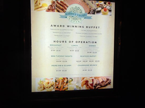 Prices And Hours Picture Of Garden Court Buffet Las Vegas