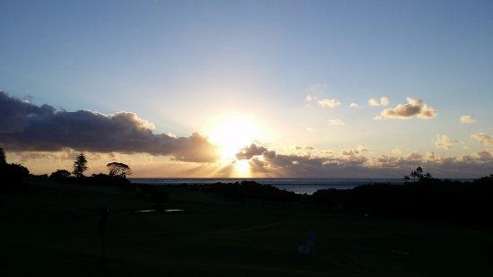 sunset from verandah of Lord Howe Golf Club