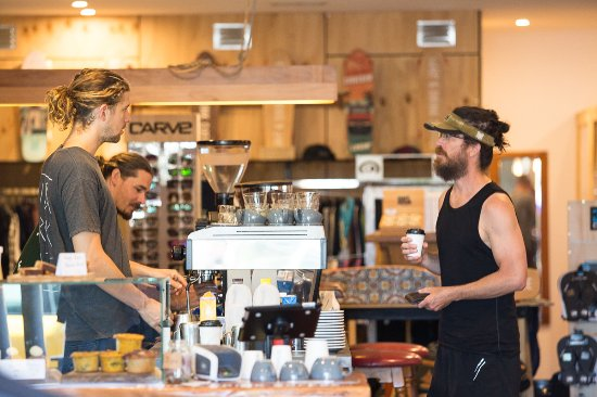 Coolum Beach, Australia: We specialise in coffee and secondhand surf